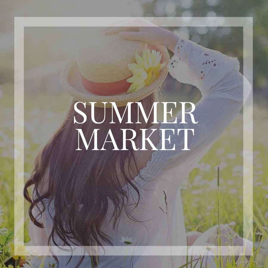 summer vintage market in the mountains